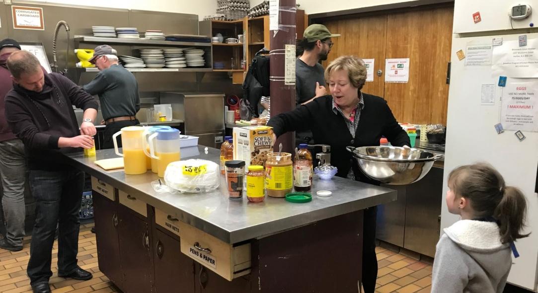 Serving Breakfast at Brunswick Street